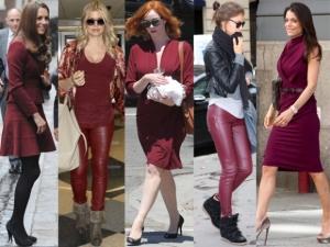 Celebridades-Street-Style-Burgundy